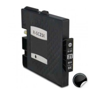 CARTUCHO DE TINTA COMPATIBLE RICOH GC21BK - AT -